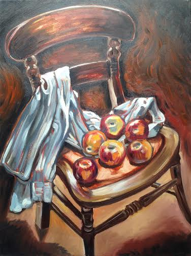 0005 Apples On Chair 2015